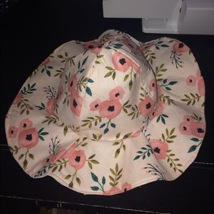 Floral floppy hat 3 months-10 years available